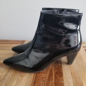 Patent Leather ankle bootie